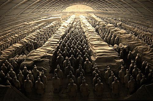 Терракотовая армия. Китай.