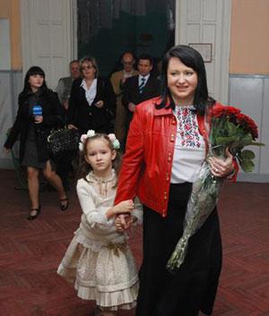 Людмила Супрун с младшей дочерью Владой.
