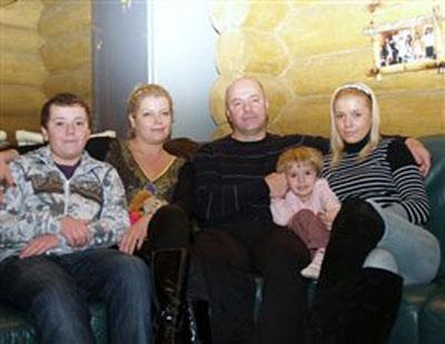 Сергей Ратушняк в кругу семьи.