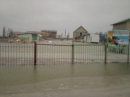 Последствия шторма в Запорожской области.