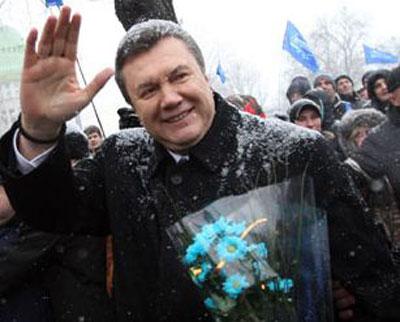 Новый год. Партия Регионов. Виктор Янукович.