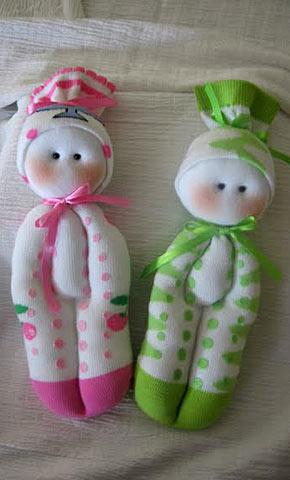 Сделать куклу из носка