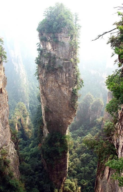парящие горы китай фото
