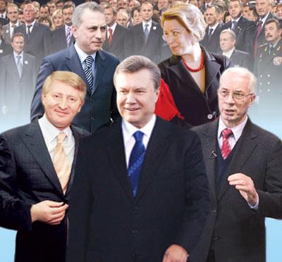Выборы-2010. Украина. Виктор Янукович и команда Партии Регионов.
