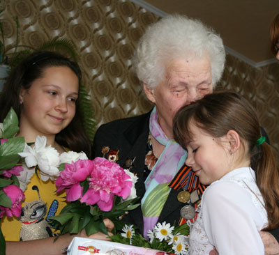 Ветеран Гурова и дети