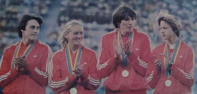 Татьяна Пророченко, Татьяна Гойшик, Нина Зюськова и Ирина Назарова. Олимпиада-80