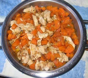 Куриное филе с тыквой по-тунисски