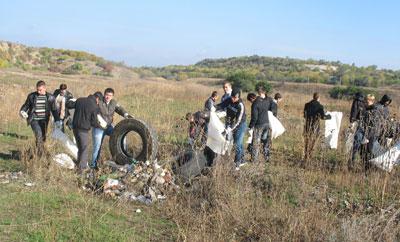 Чудесный уголок вернули живой природе горняки и студенты Докучаевска