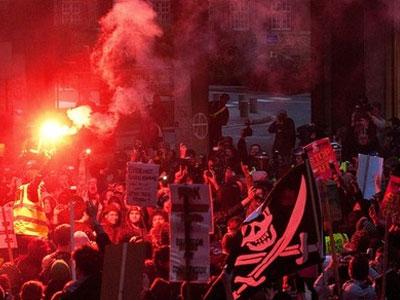 Беспорядки в Лондоне. Студенческие акции протеста
