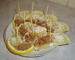 Полезная закуска с лимоном