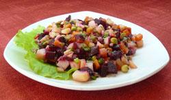 Сытный салат без мяса