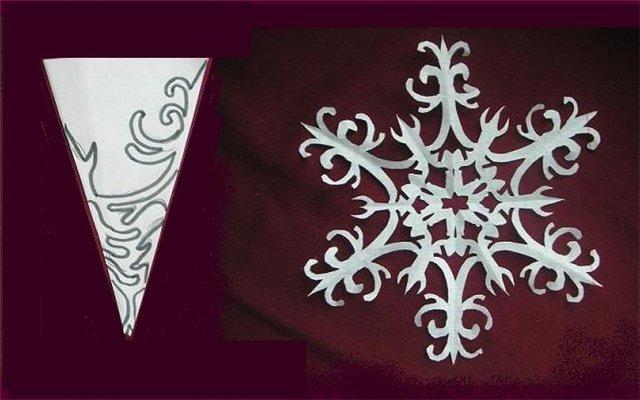 Как сделать красивые снежинки из