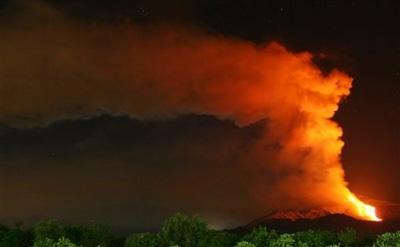 Проснулся крупнейший в Европе действующий вулкан. Этна