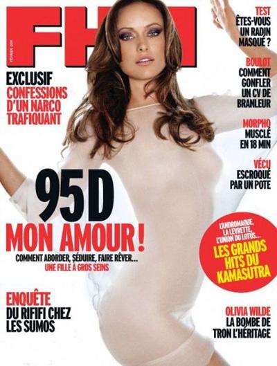 Оливия Уайлд во французском FHM