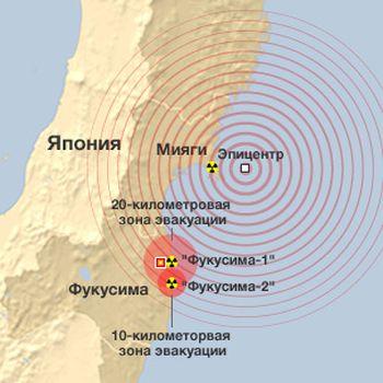 Землетрясение в Японии. Аэс Фукусима-1 и АЭС Фукусима-2
