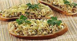 Горячие бутерброды рыбные