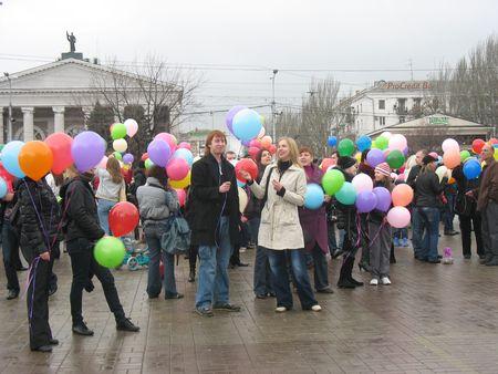 Акция в помощь онкобольным детям в Донецке.