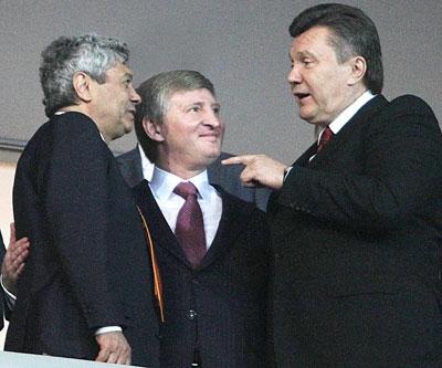 Мирче Луческу, Ринату Ахметову и Виктору Януковичу было о чем поговорить.