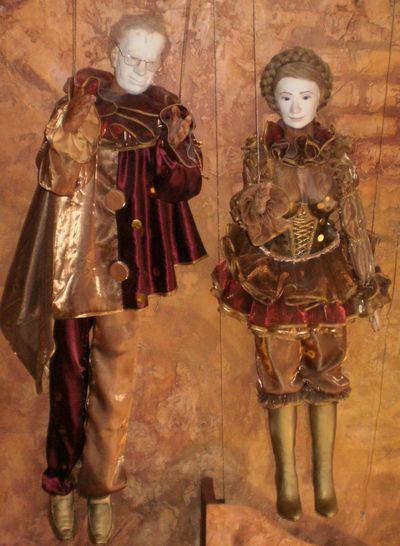 Куклы - Азаров и Тимошенко