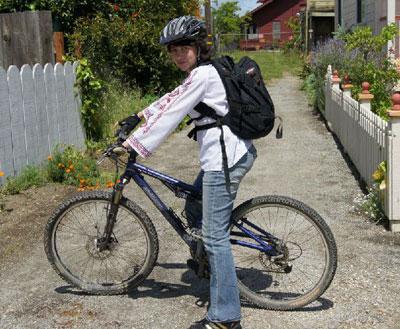 Ежедневная велосипедная прогулка у жителей Санта-Круз вошла в привычку, как чистка зубов.