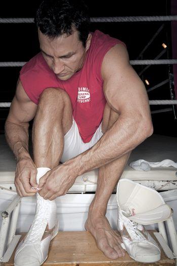 Тренировка Владимира Кличко