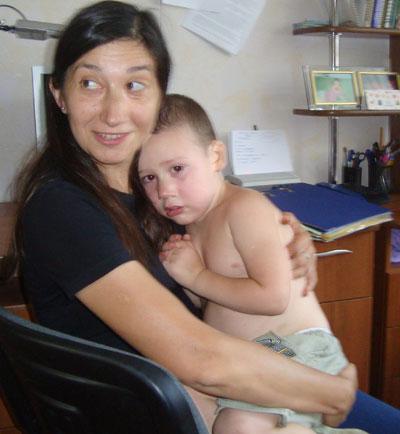 Татьяна Носач с сыном Сашей.