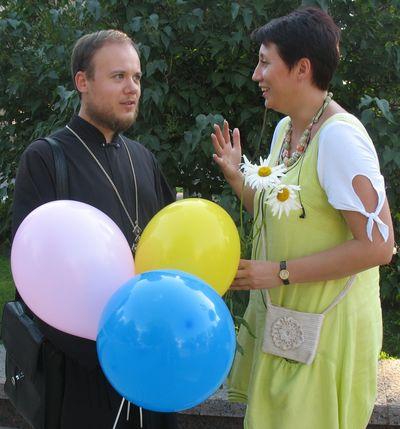 Отец Георгий Гуляев и Виктория Кузнецова