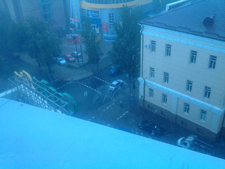 Ливень в Донецке