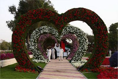 В городке Аль-Айн (ОАЭ) открылся самый крупный в мире парк цветов