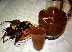 Согревающий фруктовый напиток из сухофруктов