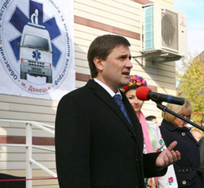 Позавчера Андрей Шишацкий в Донецке открыл новое здание областного центра экстренной медицины, который раньше ютился в гаражах.