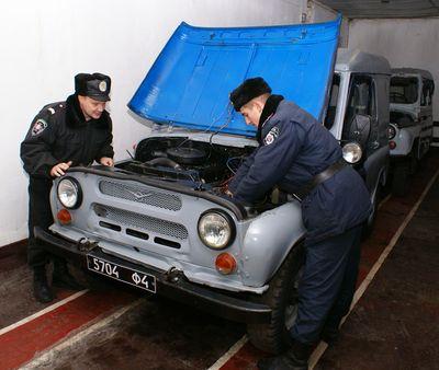 Во внутренних войсках МВД Украины отмечают День автомобилиста