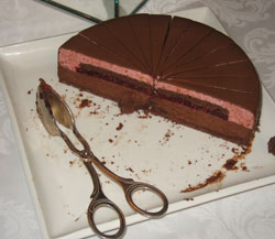 Этот торт красив и изнутри.