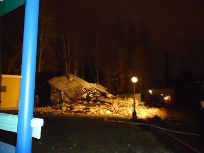 Взрыв в больнице - рухнуло здание морга