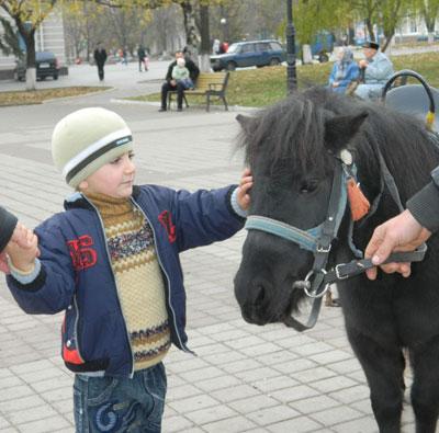 На центральной площади Артемовска последний раз катала местную детвору пони Лагода, каждые выходные приезжавшая из Донецка в синем фургончике.