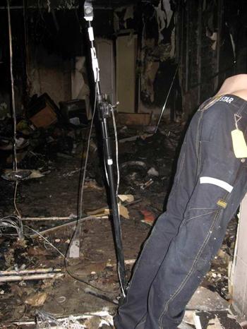 В центре Донецка сгорел магазин рэперской одежды