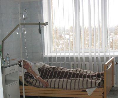 Послеоперационная палата хирургического отделения ЦГБ Харцызска