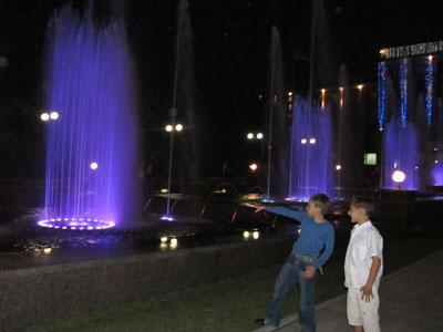музыкальный фонтан в Донецке