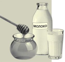Как лечат простуду. Молоком с медом