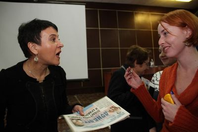 Оксана Забужко и Алиса Сопова