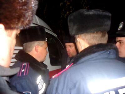 милиция и чернобыльцы