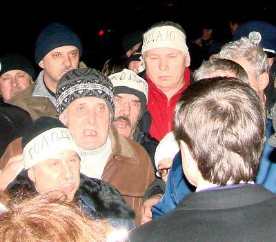 чернобыльцы у Пенсионного фонда в Донецке