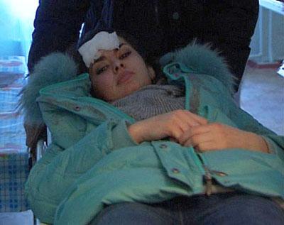 Олеся Стефанко после катастрофы.