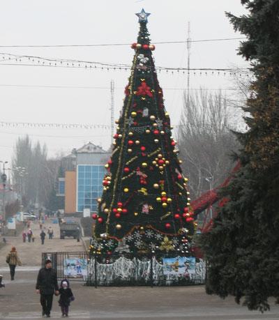 Новогодняя елка в Макеевке