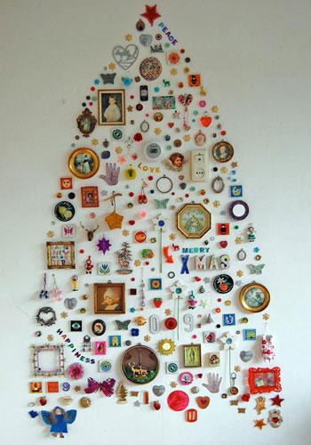 Новогодняя елка из магнитов