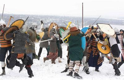 Рыцарский турнир Лед и сталь прошел в субботу в Мариуполе.