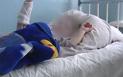 Димитров. Малыш Сашка даже не подозревает, что мог потерять руки.