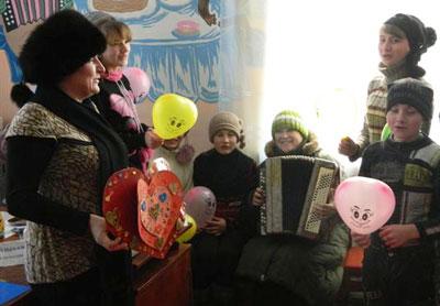 14 февраля в Доброполье. Подготовка к празднику - тоже праздник.