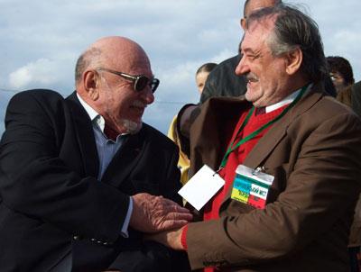 Ежи Гофман с Богданом Ступкой, которого считает одним из наимощнейших актеров Европы: кино и театра.
