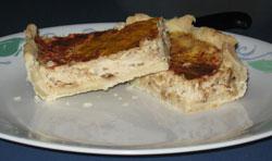 Луковый киш - очень легкий пирог